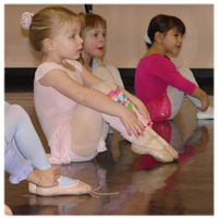 Pre ballet students